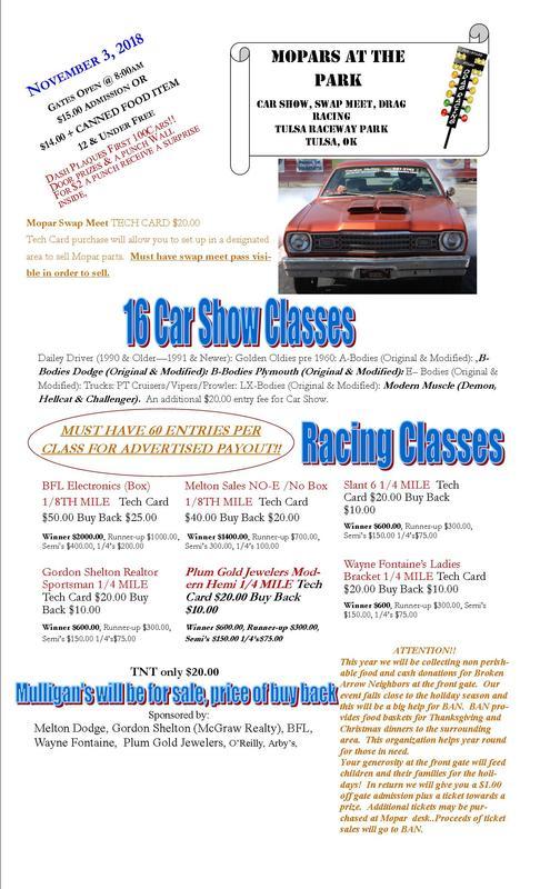 Coming Events Calendar Central Oklahoma MOPAR Association - Route 66 cruisers car show list